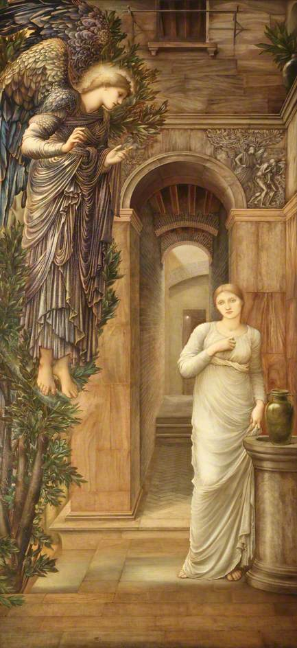 Burne-Jones, Edward, 1833-1898; The Annunciation