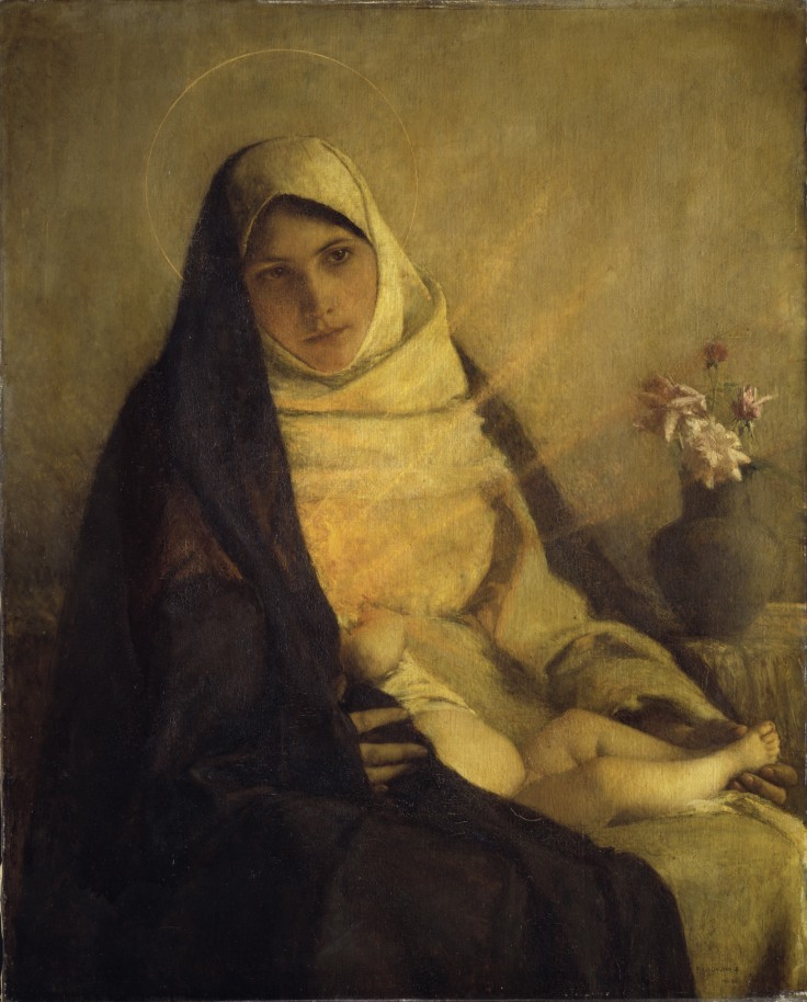 BOUVERET-Pascal-Adolphe-Jean Dagnan_Madonna of the rose