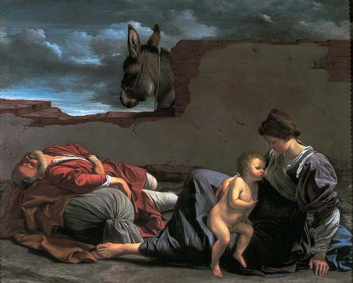 Gentileschi, Orazio, 1563-1639; The Rest on the Flight into Egypt