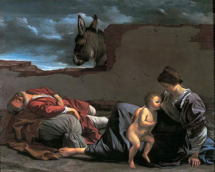 Gentileschi, Orazio, 1563-1639; The Rest on the Flight into Egypt