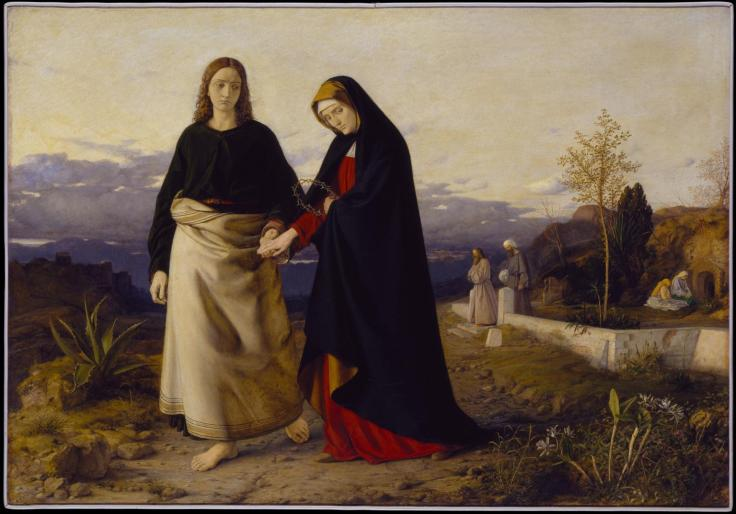 St John Leading Home his Adopted Mother 1842-60 by William Dyce 1806-1864