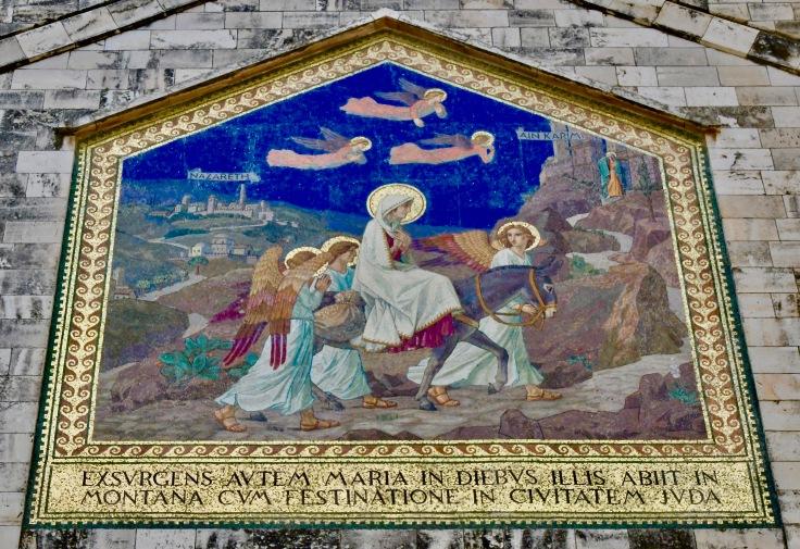 Visitation journey mosaic, Ein Karem