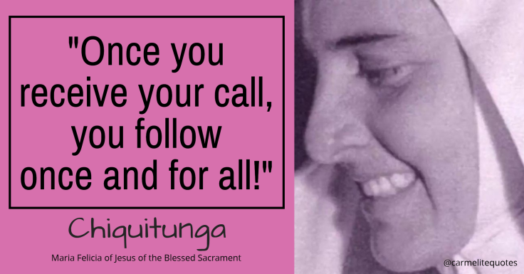 CHIQUITUNGA - Once you receive your call