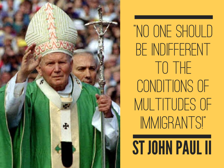 JOHN PAUL 2 - No one should be indifferent
