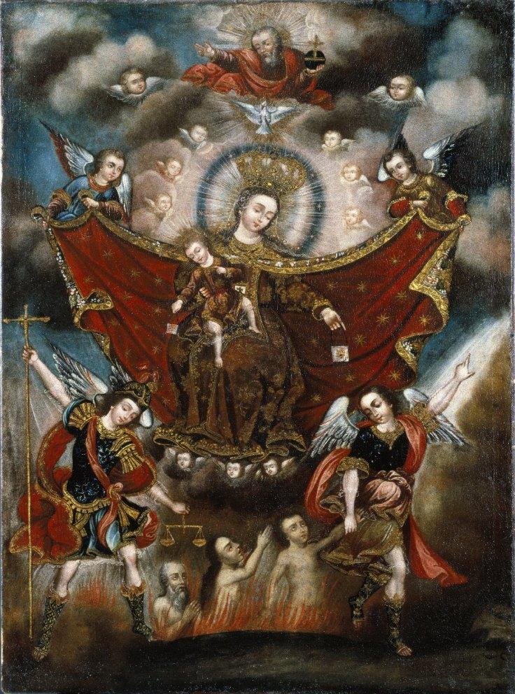 NDMC_Circle of Diego Quispe Tito, Peruvian (Cuzco), 1611-1681 - Virgin of Carmel Saving Souls in Purgatory