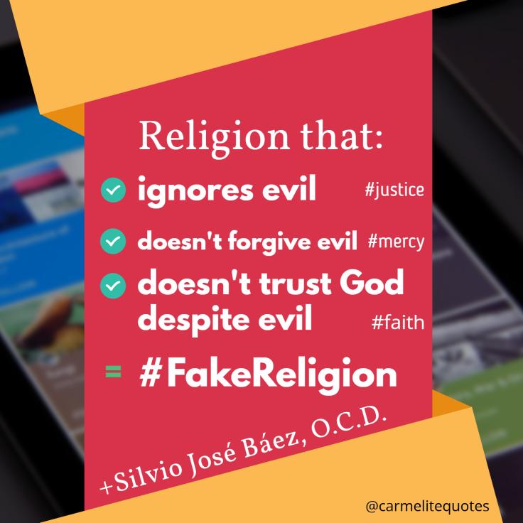 BAEZ - Religion that ignores evil
