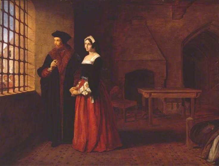 Herbert, John Rogers, 1810-1890; Sir Thomas More and his Daughter