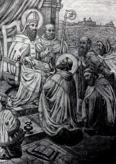 Albert-of-Jerusalem-gives-the-Rule_Haifa-Carmel