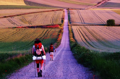 Camino de Santiago_red 2 hikers