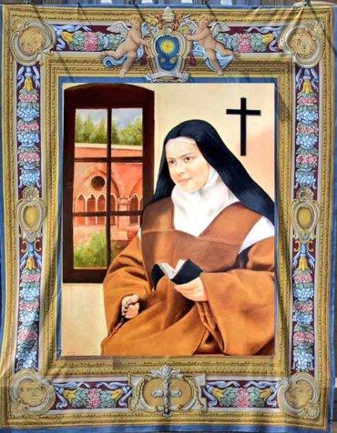 Primer plano del retrato de Santa Isabel