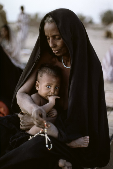 Berber elder and child
