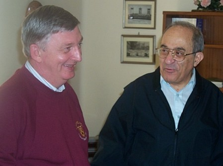 Father Joseph and Father Camilo enjoying a moment of fraternal fellowship