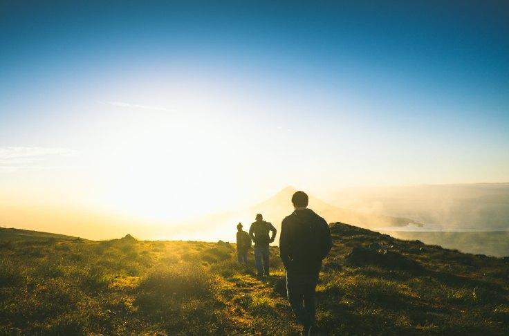 hike sunrise nicaragua hikers