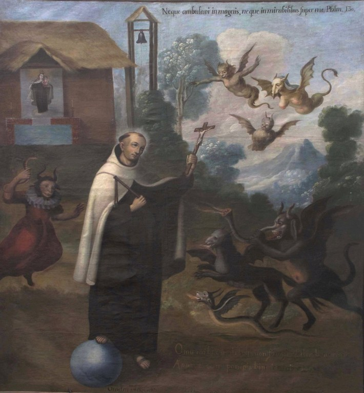 Saint John of the Cross facing demons - Puebla