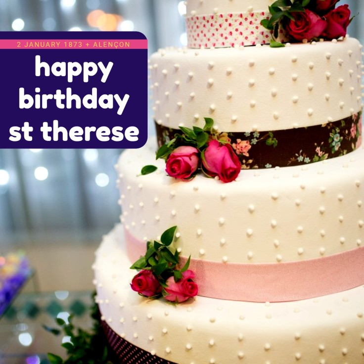 THERESE - Happy Birthday pink rose cake