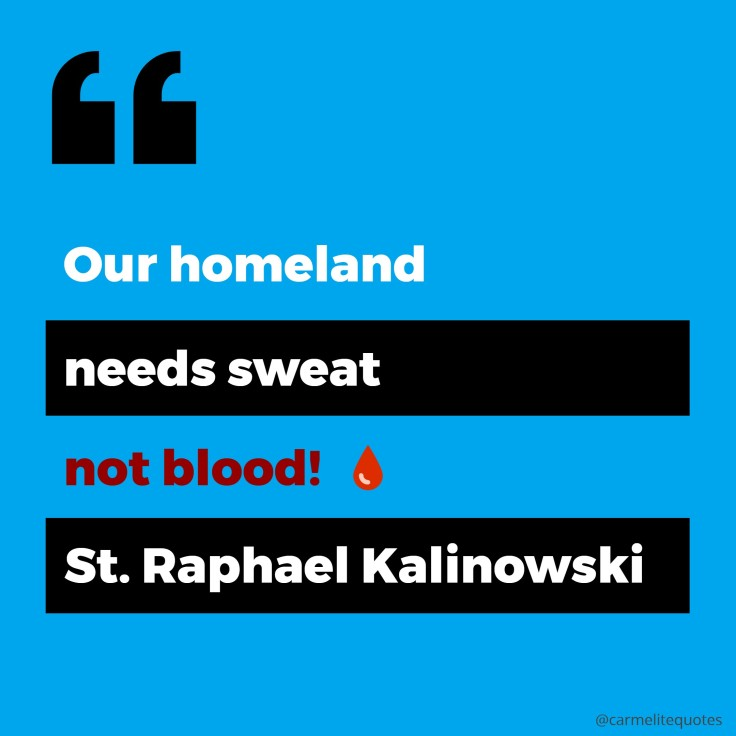 kalinowski - our homeland needs sweat