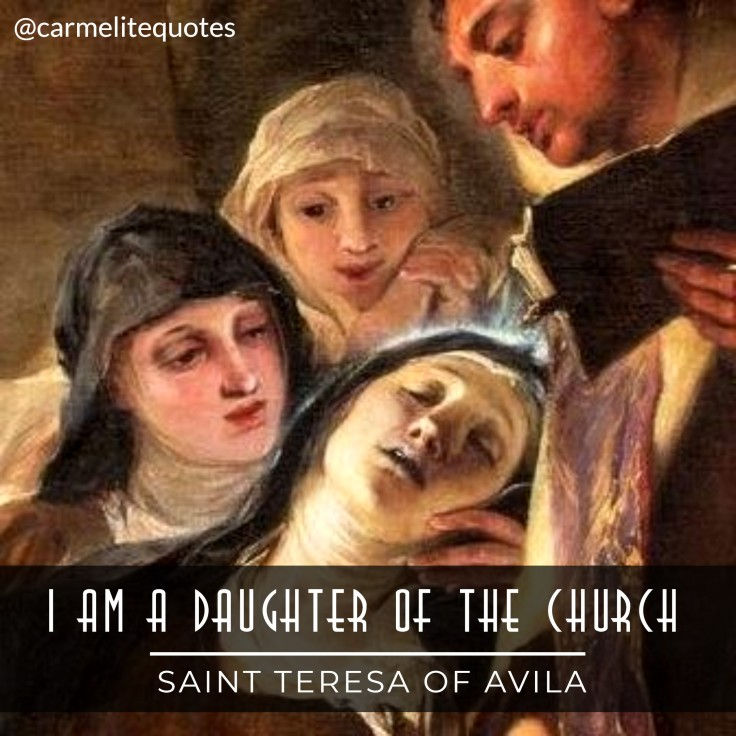 TERESA AVILA - I am a daughter of the Church IGsize