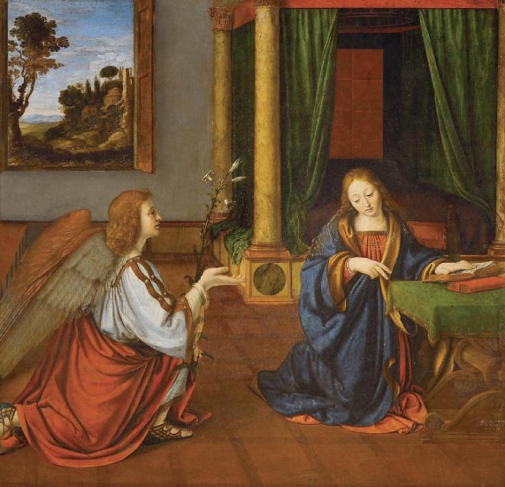 Annunciation_SOLARIO Andrea 1506_Louvre