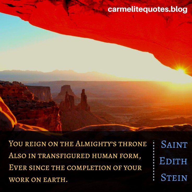EDITH - You reign on the Almighty's throne transfigured