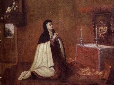 The Second Conversion of Saint Teresa Cuzco School 1694