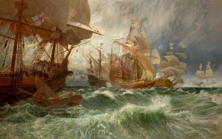 Cole, George Vicat, 1833-1893; The Summons to Surrender (An Incident in the Spanish Armada)