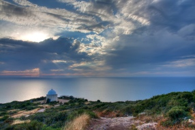 View of the Mediterranean at sunset from Stella Maris monastery at Haifa, not far from Father Prosper's Discalced Carmelite foundation (1633) | Danielme/Flickr