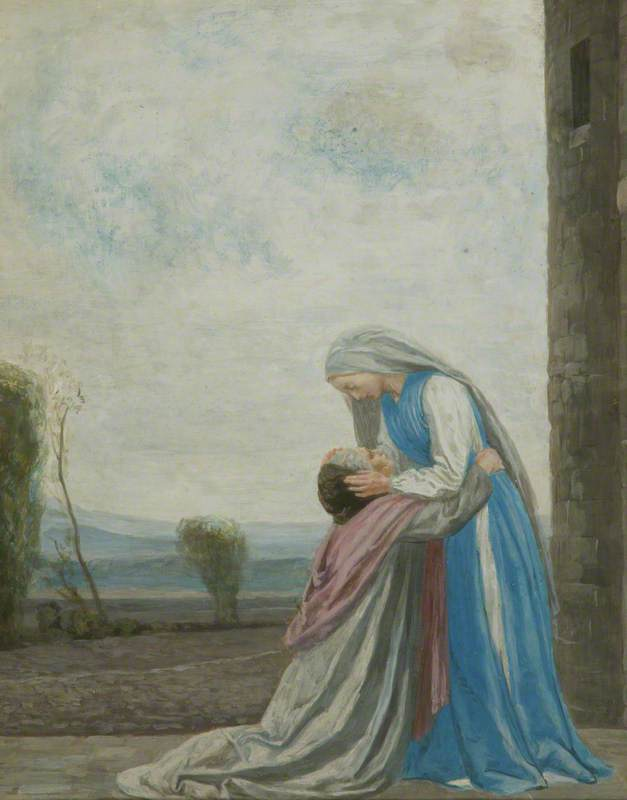 Bell, Robert Anning, 1863-1933; The Meeting of the Virgin and Saint Elizabeth