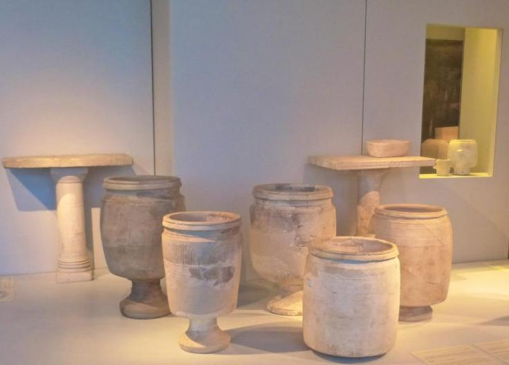 Cana stone water jars Israel museum