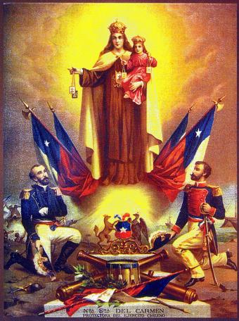 Chile_-_Estampa_de_la_Virgen_del_Carmen