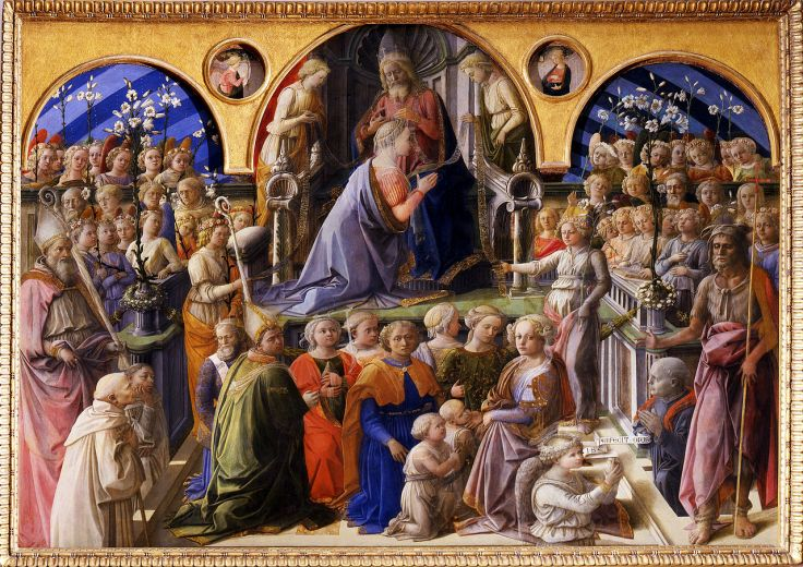 Coronation of the Virgin_LIPPI Fra Filippo_Sant'Ambrogio-Uffizi