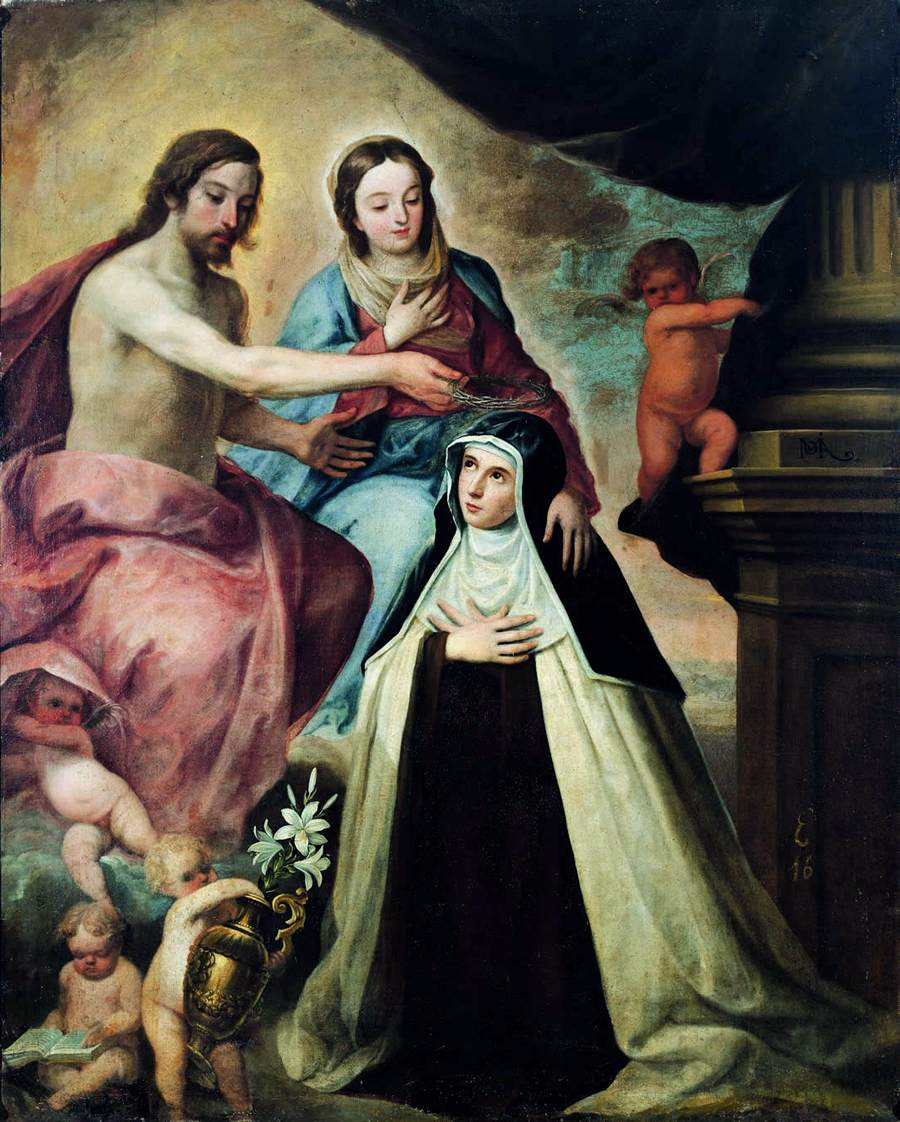 Mary Magdalene-de-Pazzi_Pedro_de_Moya_-_Vision_of_St_Maria_Magdalena_di_Pazzi_-_WGA16308