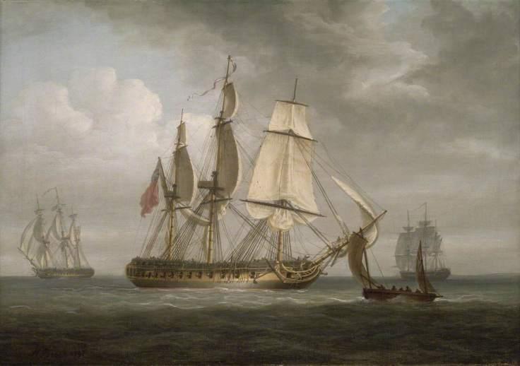 Pocock, Nicholas, 1740-1821; The Frigate 'Triton'