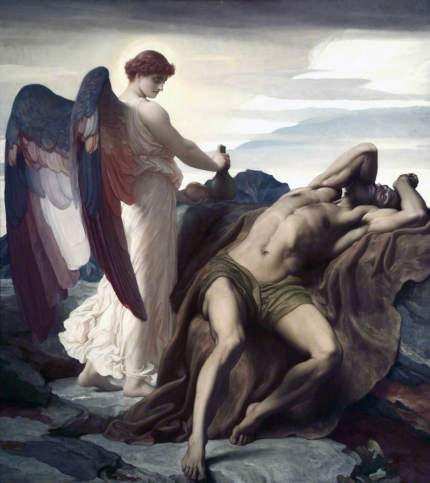 Leighton, Frederic, 1830-1896; Elijah in the Wilderness