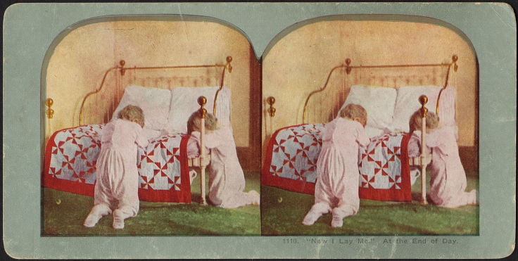 End of the day Now I lay me - stereograph - Boston Public Library - Flickr