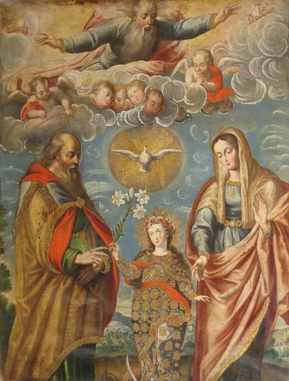 Joachim and Anne, Cuzco artist, Convento de Sta Teresa, Arequipa Peru