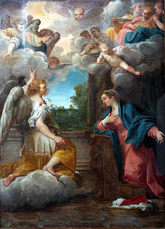 Annunciation_CARRACCI Agostino_Louvre