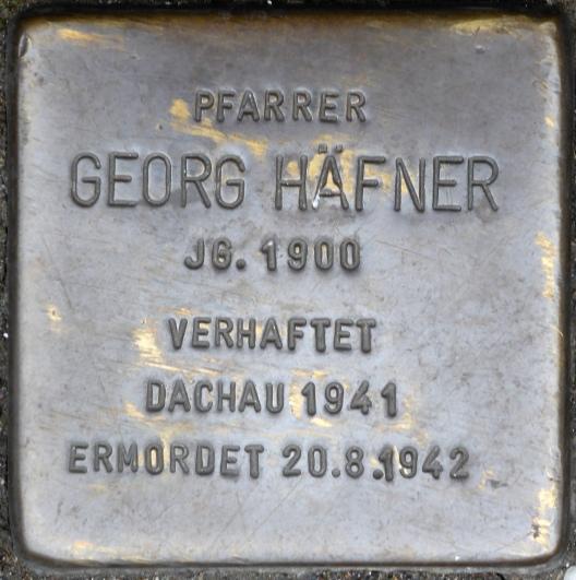 Georg Häfner Stolpersteine_Würzburg_(Kollegiatstift_Neumünster)