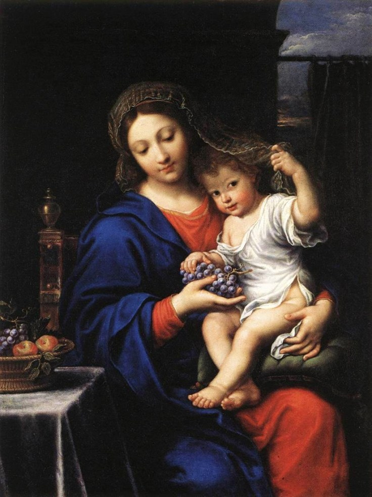 Our Lady of the Grapes Mignard_vierge_raisins
