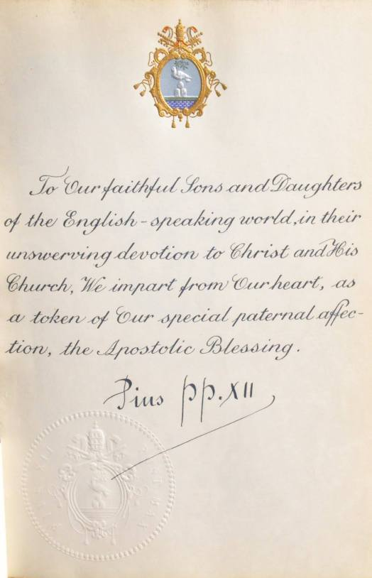 Pius XII holy card with autograph
