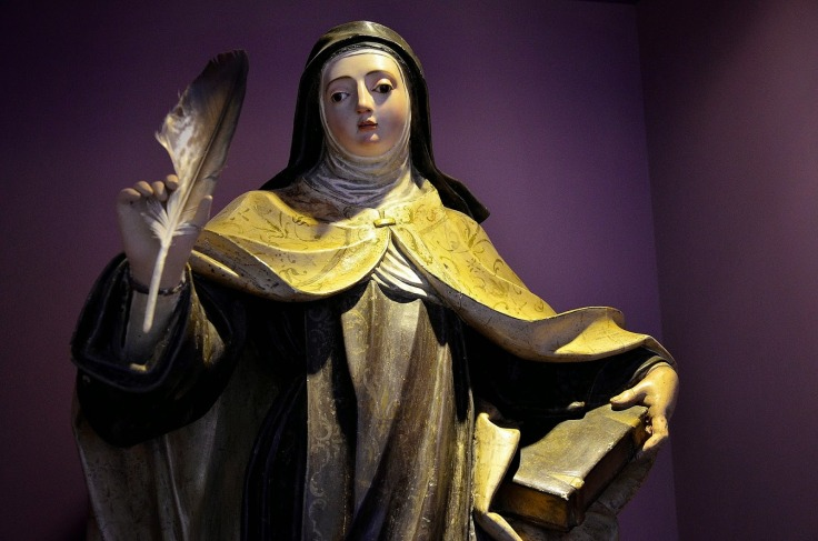 Teresa-de-Jesus_statue museo Santa Clara Borja