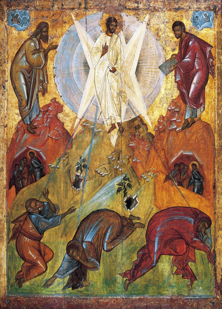 Transfiguration icon by Theofan the Greek Tretyakov gallery