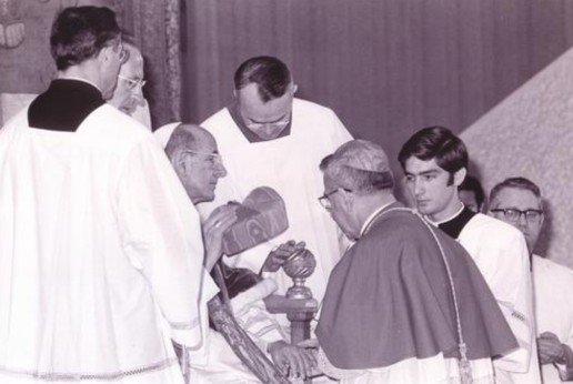 John Paul 1 receives cardinals cap