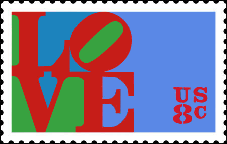 Love stamp USPS Robert Indiana 1973