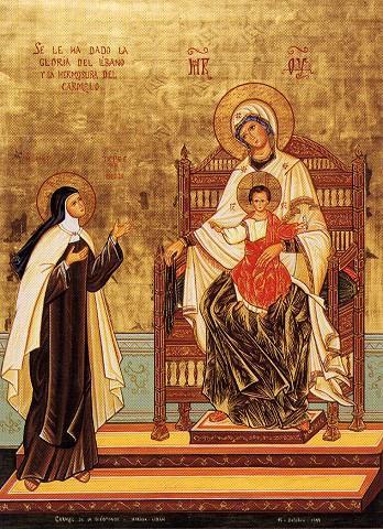 Teresa-Avila_icon-interceding_Carmelite-Retreat-Tagaytay