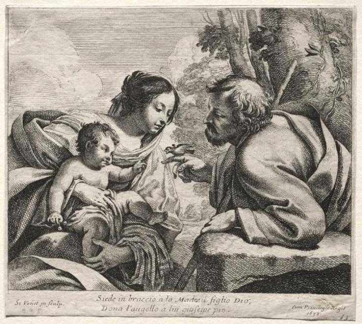 """Holy Family"" by Simon Vouet (French, 1590-1649) is licensed under CC0 1.0"