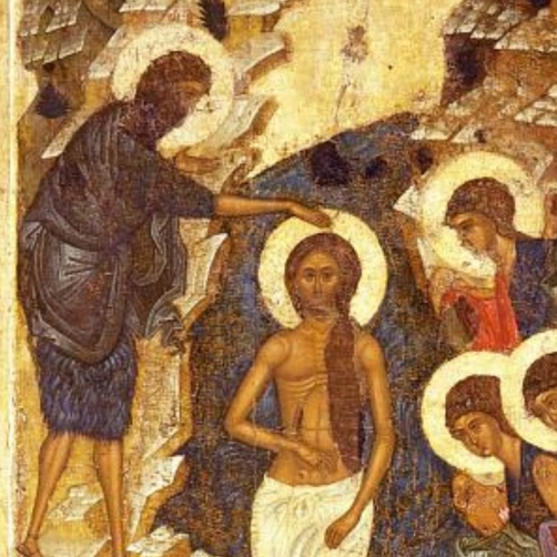 Baptism of Christ - Andrei Rublev and workshop c. 1408