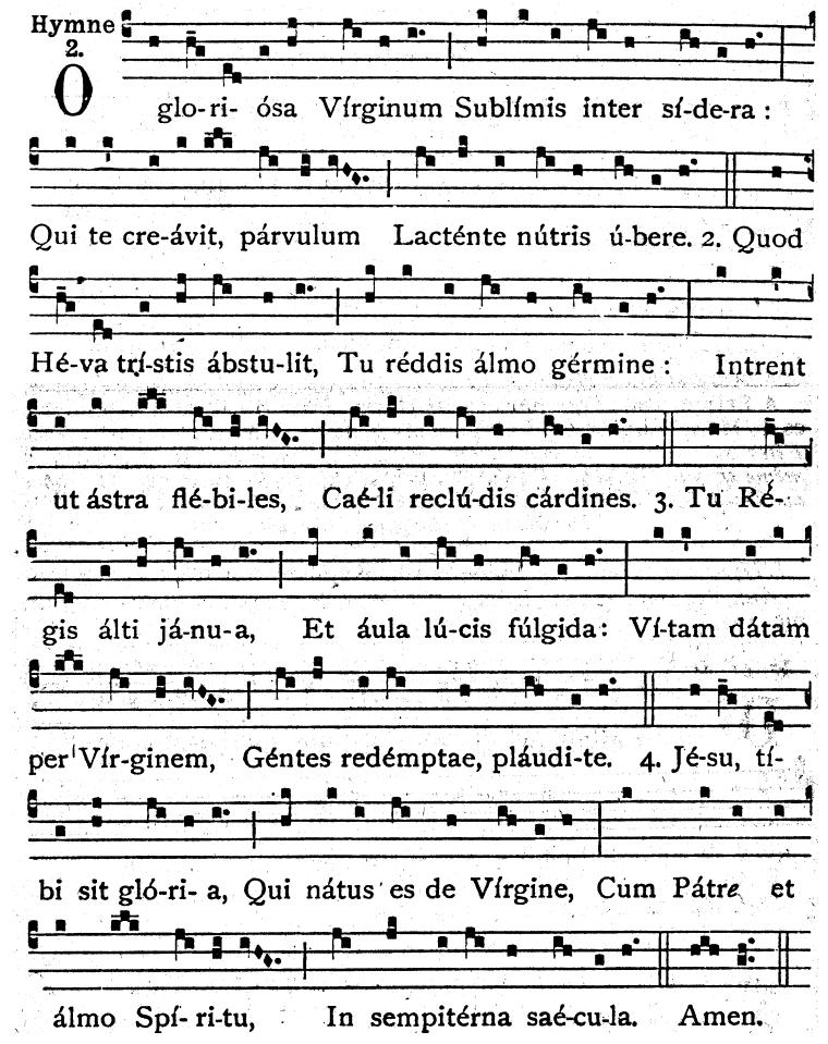 O gloriosa virginum