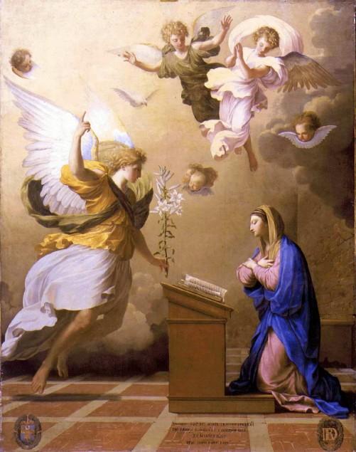 Annunciation_LESUEUR Eustache_Louvre